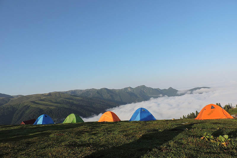 buổi sáng tour cắm trại săn mây đà lạt