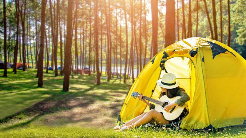 cắm trại đồi đa phú